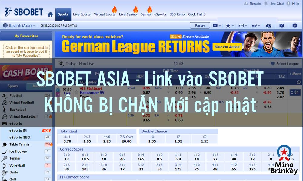Link vào Sbobet Asia mới nhất